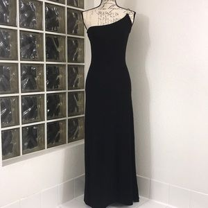 Jessica McClintock One Shoulder Full Length Dress